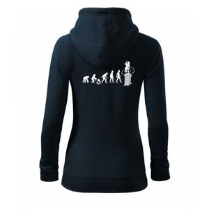 Evolúcia kominár - Mikina dámska trendy zipper s kapucňou