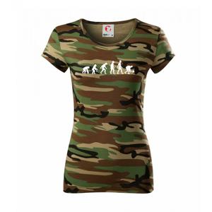 Evolúcia padel - Dámske maskáčové tričko