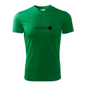 Evolúcia pedále - Pánske tričko Fantasy športové