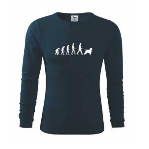 Evolúcia pes Briard - Tričko s dlhým rukávom FIT-T long sleeve