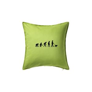 Evolúcia pes Mops (muž-žena) - Vankúš 50x50