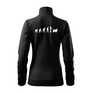 Evolúcia pes Novofundlandský pes (muž-žena) - Mikina dámska Viva bez kapucne