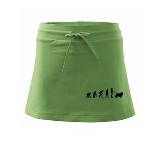 Evolúcia pes Novofundlandský pes (muž-žena) - Športová sukne - two in one