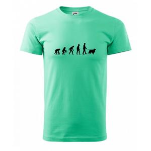 Evolúcia pes Šeltia (muž-žena) - Heavy new - tričko pánske