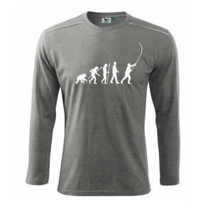 Evolúcia rybárčenie  - Tričko s dlhým rukávom Long Sleeve