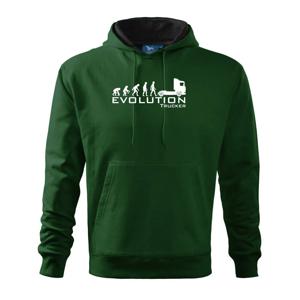 Evolúcia trucker - Mikina s kapucňou hooded sweater