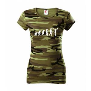 evolution cheerleading - roztlieskavačka - Dámske maskáčové tričko