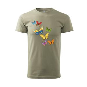 Farebné motýle - Tričko Basic Extra veľké
