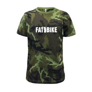 Fat bike nápis - Detské maskáčové tričko
