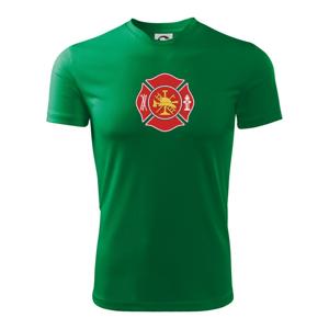 Fire department logo červené - Detské tričko fantasy športové tričko