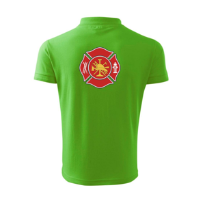 Fire department logo červené - Polokošeľa pánska Pique Polo 203