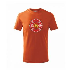 Fire department logo červené - Tričko detské basic