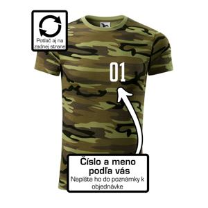 Florbalový dres - vlastné meno a číslo - Army CAMOUFLAGE