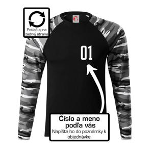 Florbalový dres - vlastné meno a číslo - Camouflage LS