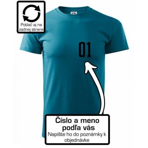 Florbalový dres - vlastné meno a číslo - Heavy new - tričko pánske