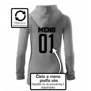 Florbalový dres - vlastné meno a číslo - Mikina dámska trendy zipper s kapucňou