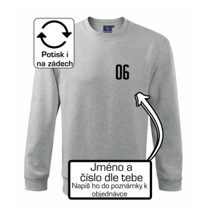 Florbalový dres - vlastné meno a číslo - Mikina Essential pánska
