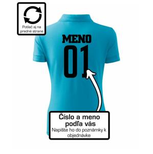 Florbalový dres - vlastné meno a číslo - Polokošeľa dámska Pique Polo