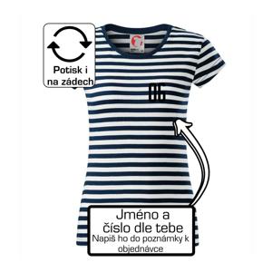 Florbalový dres - vlastné meno a číslo - Sailor dámske tričko