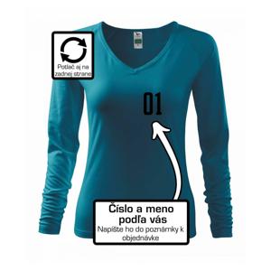 Florbalový dres - vlastné meno a číslo - Tričko dámske Elegance