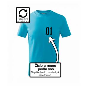 Florbalový dres - vlastné meno a číslo - Tričko detské basic