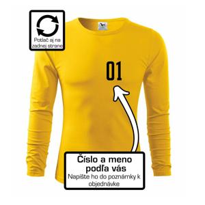 Florbalový dres - vlastné meno a číslo - Tričko s dlhým rukávom FIT-T long sleeve