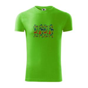 Folklór - jelene v lese - Viper FIT pánske tričko