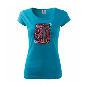 Foťák farebný - dve šošovky - Pure dámske tričko