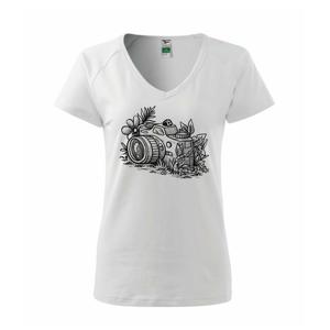 Foťák kreslený lienka - Tričko dámske Dream
