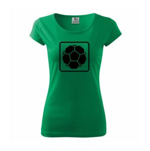 Fotbalová lopta emblem - Pure dámske tričko