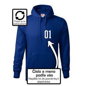 Futbalový dres - vlastné meno a číslo - Mikina s kapucňou hooded sweater