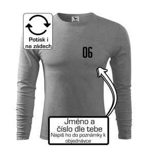 Futbalový dres - vlastné meno a číslo - Tričko s dlhým rukávom FIT-T long sleeve