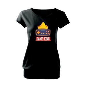 Game king - kreslený - Voľné tričko city