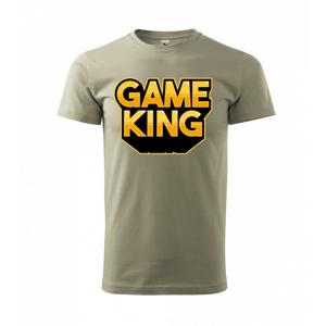 Game king - nápis veľký - Tričko Basic Extra veľké