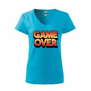 Game over - nápis farebný - Tričko dámske Dream