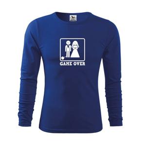 Game Over rozlúčka - Tričko s dlhým rukávom FIT-T long sleeve