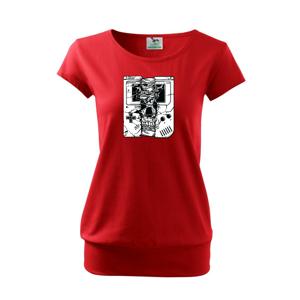 Gameboy Skull - Voľné tričko city