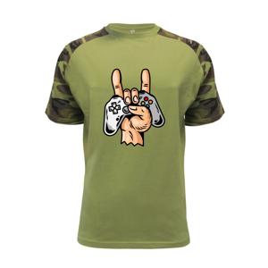 Gamer - gamepad paroháč - Raglan Military