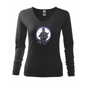 Gas Mask Soldier - Tričko dámske Elegance