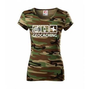 Geocaching ikony - Dámske maskáčové tričko