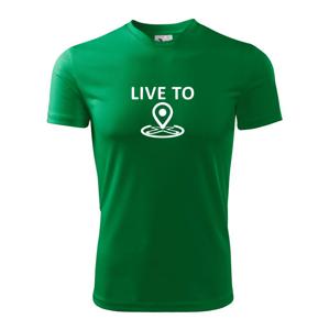 Geocaching live to - Pánske tričko Fantasy športové