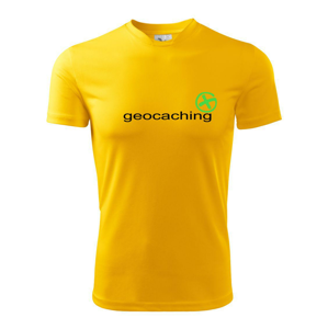 Geocaching nápis - Pánske tričko Fantasy športové