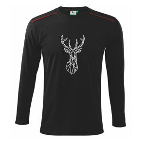 Geometria - jeleň - Tričko s dlhým rukávom Long Sleeve