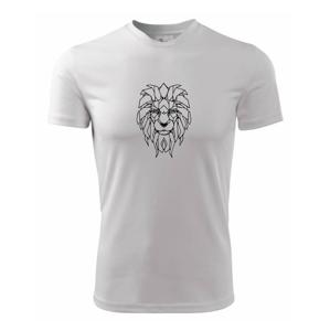 Geometria - lev tvár - Pánske tričko Fantasy športové