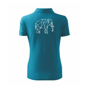 Geometria - slon - Polokošeľa dámska Pique Polo