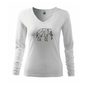 Geometria - slon - Tričko dámske Elegance
