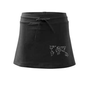 Geometria - svet - Športová sukne - two in one
