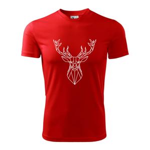 Geometria - Veľký jeleň - Pánske tričko Fantasy športové