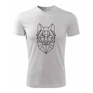 Geometria - vlk - Pánske tričko Fantasy športové