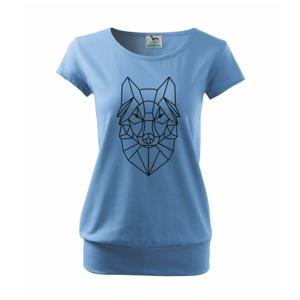 Geometria - vlk - Voľné tričko city